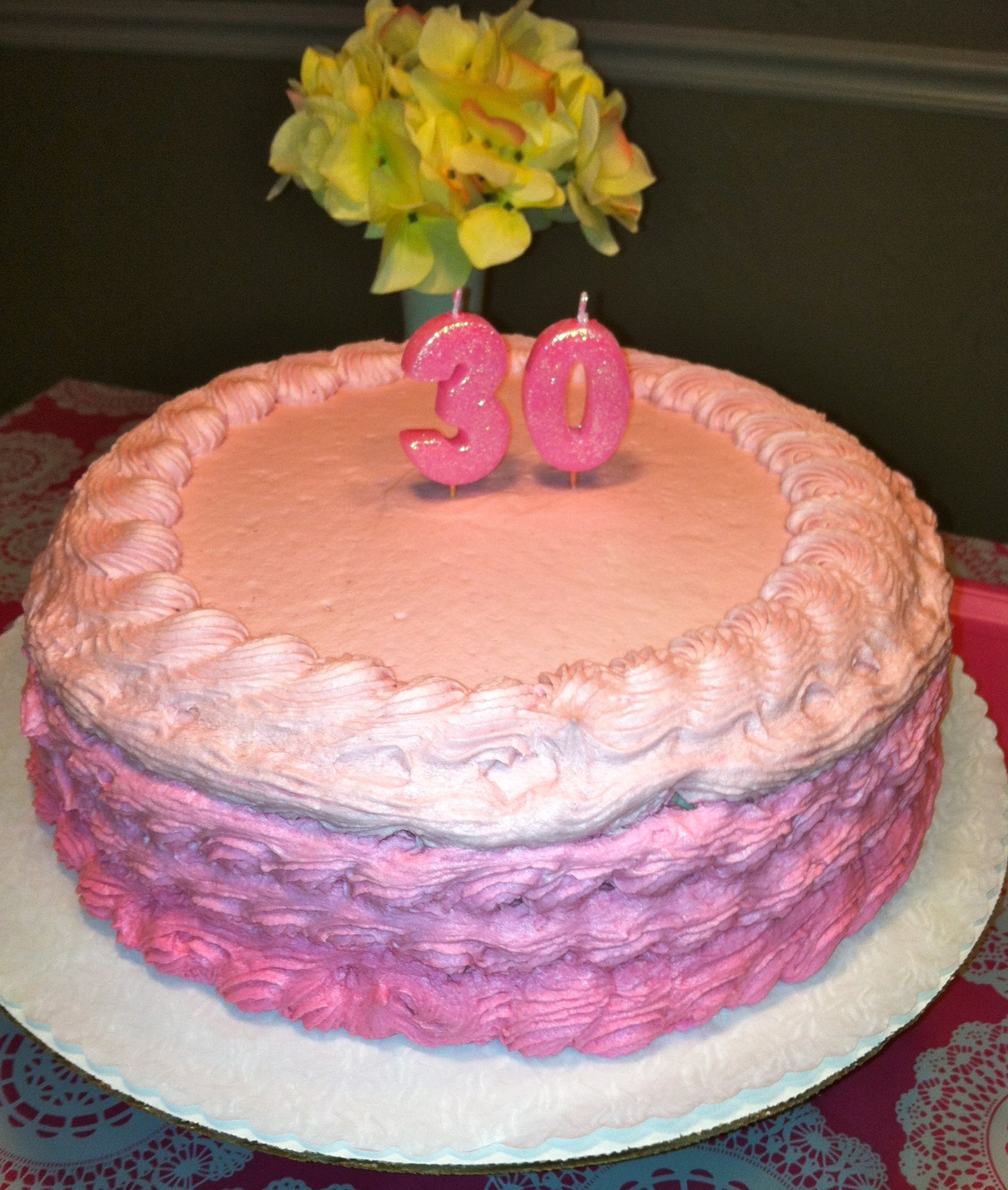 Shades of Pink for the Birthday Girl Honeys Baking